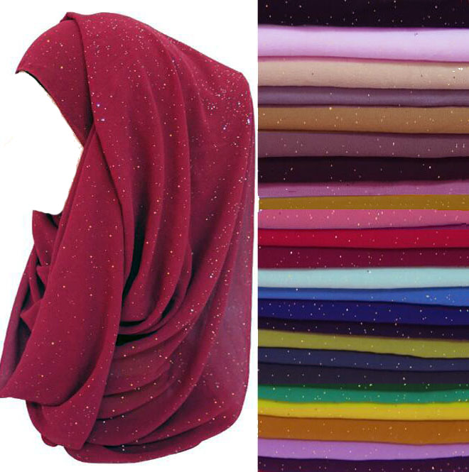 glittery   scarf     wrap   bubble chiffon 180*72cm shimmer bling   scarf   hijab shawl fashionable 15 colors 30pcs/lot