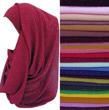 glittery scarf wrap bubble chiffon 180*72cm shimmer bling hijab shawl fashionable 15 colors 30pcs/lot