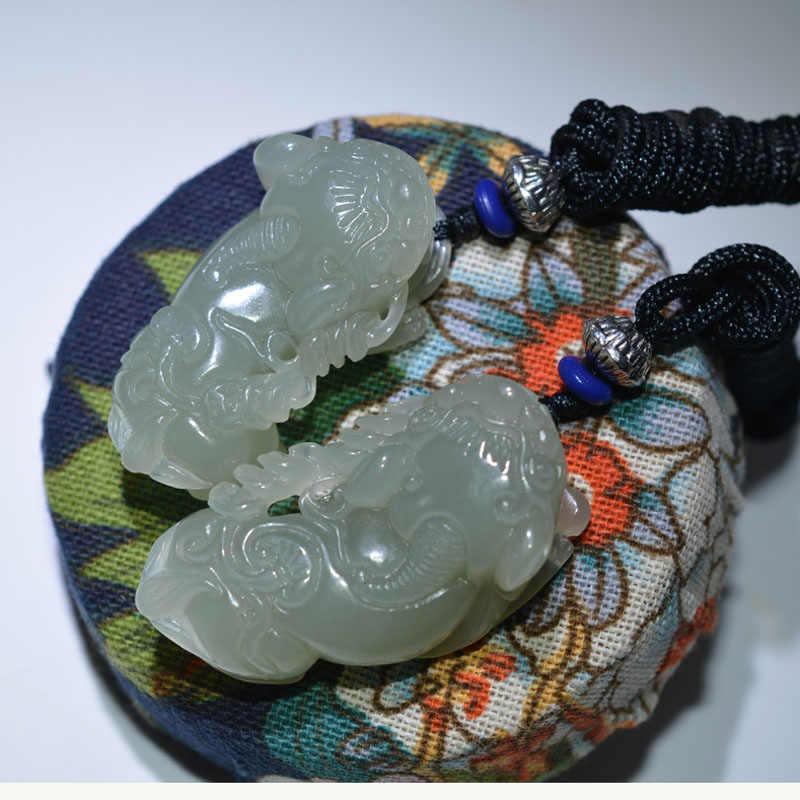 XinJiang HeTian จี้หยกสีขาว Dropshipping Lucky Amulet Brave Troops คู่คนรักสร้อยคอสำหรับผู้ชายและผู้หญิง