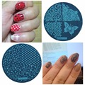 Nails 5.5 Disc Template Nail Stamping Plates Polish Stencils For Stamp Nail Art