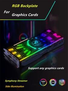 Case-Side-Panel Backplate Streamer AURA Faith-Light Customized Case/graphics-Card