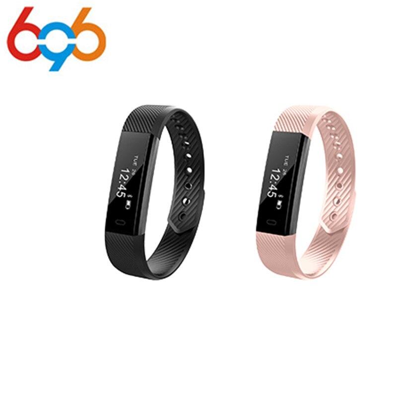 ID115 Smart Bracelet Fitness Tracker Step Counter Activity Monitor Band Alarm Clock Vibration