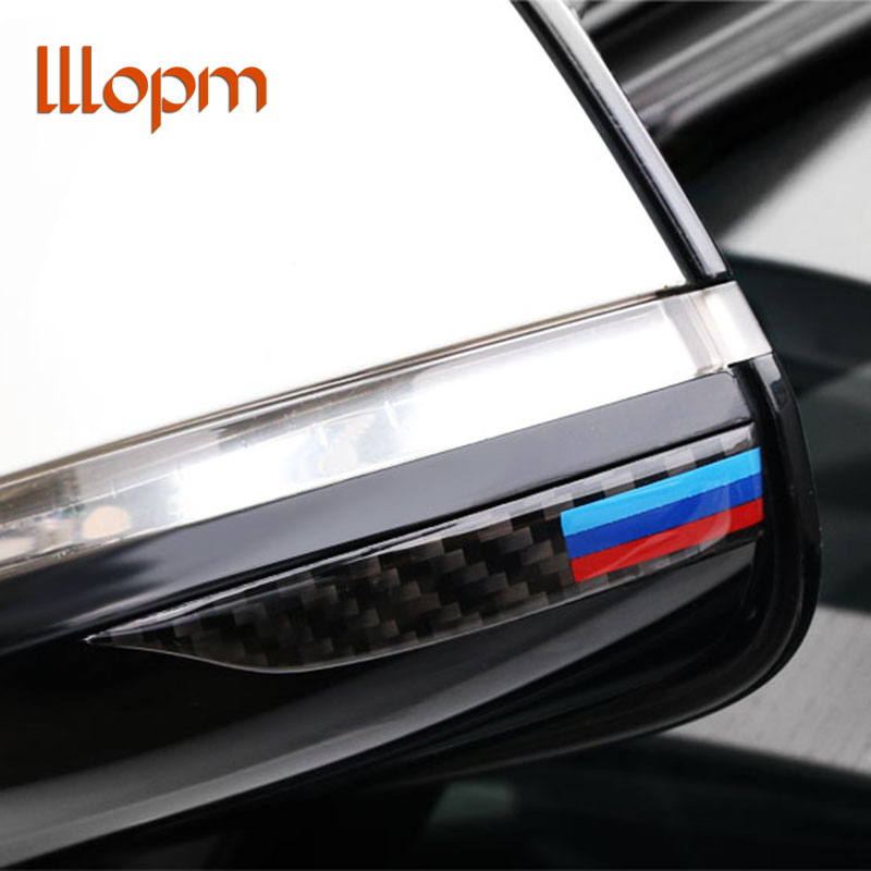 Carbon Fiber Rearview Mirror Anti-Rub Strips Protector for bmw e90 e60 f30 f34 f10 f20 x1 x3 x4 x5 x6 Car Anti-collision Strip image