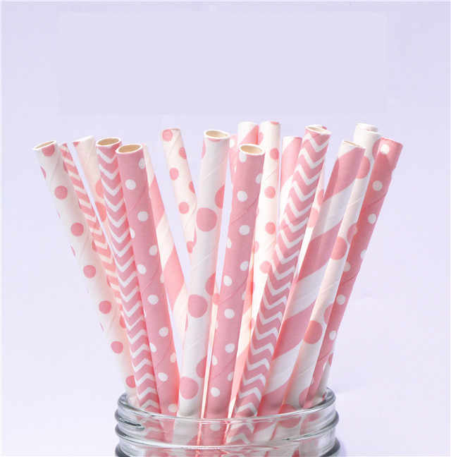 Party Decor Cake Pops,garden paper straw,Birthday Baby Shower,Bridal shower,Wedding Baby shower 25 paper straws Floral pink Paper Straws