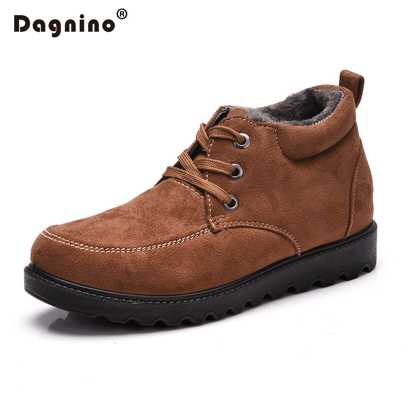 DAGNINIO Winter Snow Boots Man Lightweight Ankle Keep Warm Mens Walking 2017 New Furry Men Big