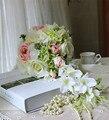 2017 Новый Падение-образный Свадебные Букеты Невесты Холдинг Цветок Водопад Ручной Цветок Свадебные Букеты Искусственные Букеты Роз