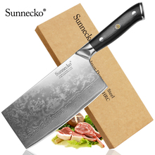 SUNNECKO 7 inches Cleaver Kitchen Knife Japanese Damascus VG10 Steel Blade Knives Cutting For Chef Cooking New Arrival