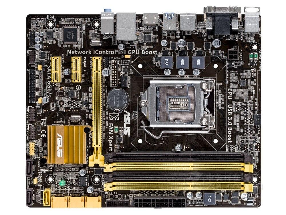 ASUS carte mère de bureau originale B85M-G DDR3 LGA 1150 USB2.0 USB3.0 32 GB B85 carte mère à semi-conducteurs intégrée livraison gratuite