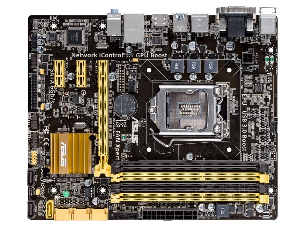 все цены на ASUS original desktop motherboard B85M-G DDR3 LGA 1150 USB2.0 USB3.0 32GB B85 motherboard Solid-state integrated free shipping