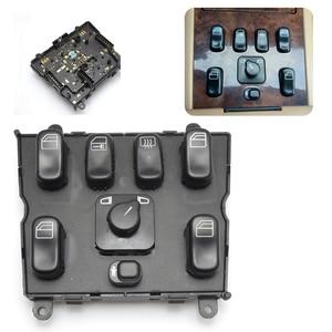 Image 2 - Электрический выключатель стеклоподъемника для Mercedes Benz W163 ML320 ML400 ML430 ML500 1998 2005 A1638206610 1638206610 новый главный выключатель