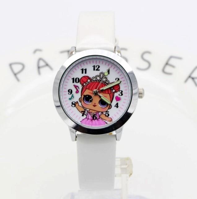 2018 Fashion Women Girl Dress Bracelet Watch Quartz Clock doll Leather Band Analog Quartz Wrist kids Watch