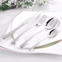Cutlery Set Stainless Steel 24 Pcs Flatware Cheap Classic Beautiful Tableware Knife Fork Spoon Dinnerware Set