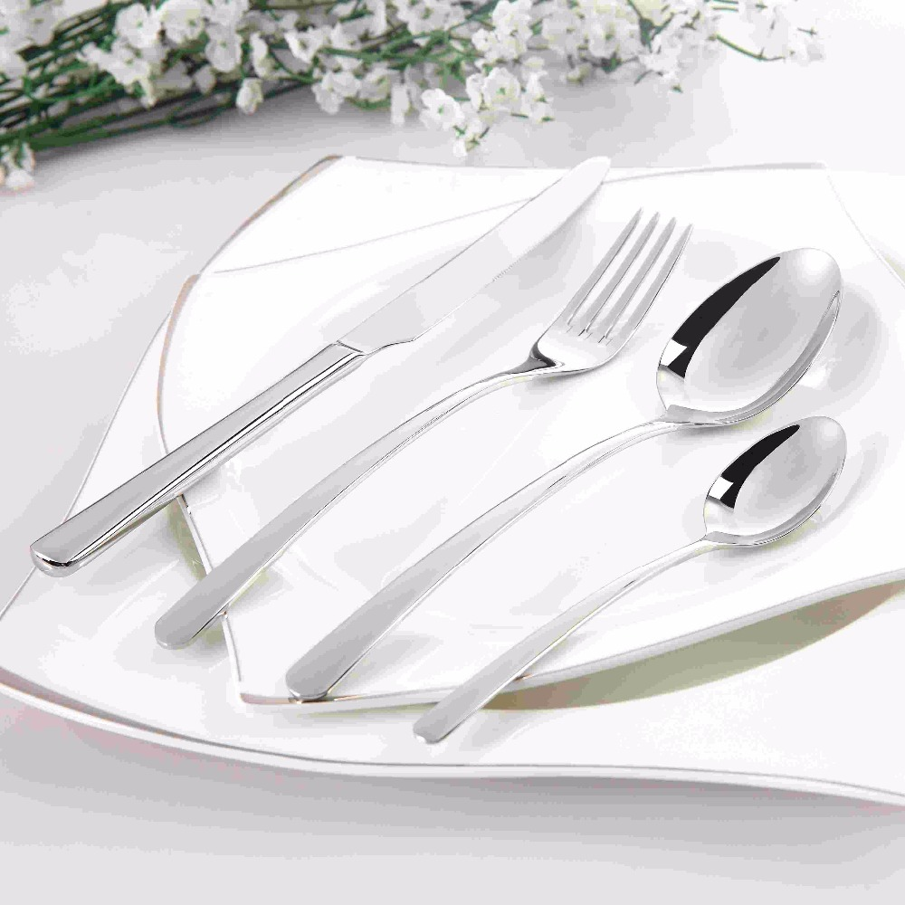 Cozy Zone Cutlery Set Stainless Steel 24 Pcs Dinner Set Classic Beautiful Tableware Knife Fork Dinnerware Set Quality Dining Set