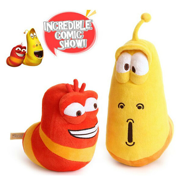2pcs/lot Selling Item Fun Insect Slug Creative Larva Plush Toys Stuffed Doll For Children kids toy Christmas Gift pilotage микро робот larva цвет черный
