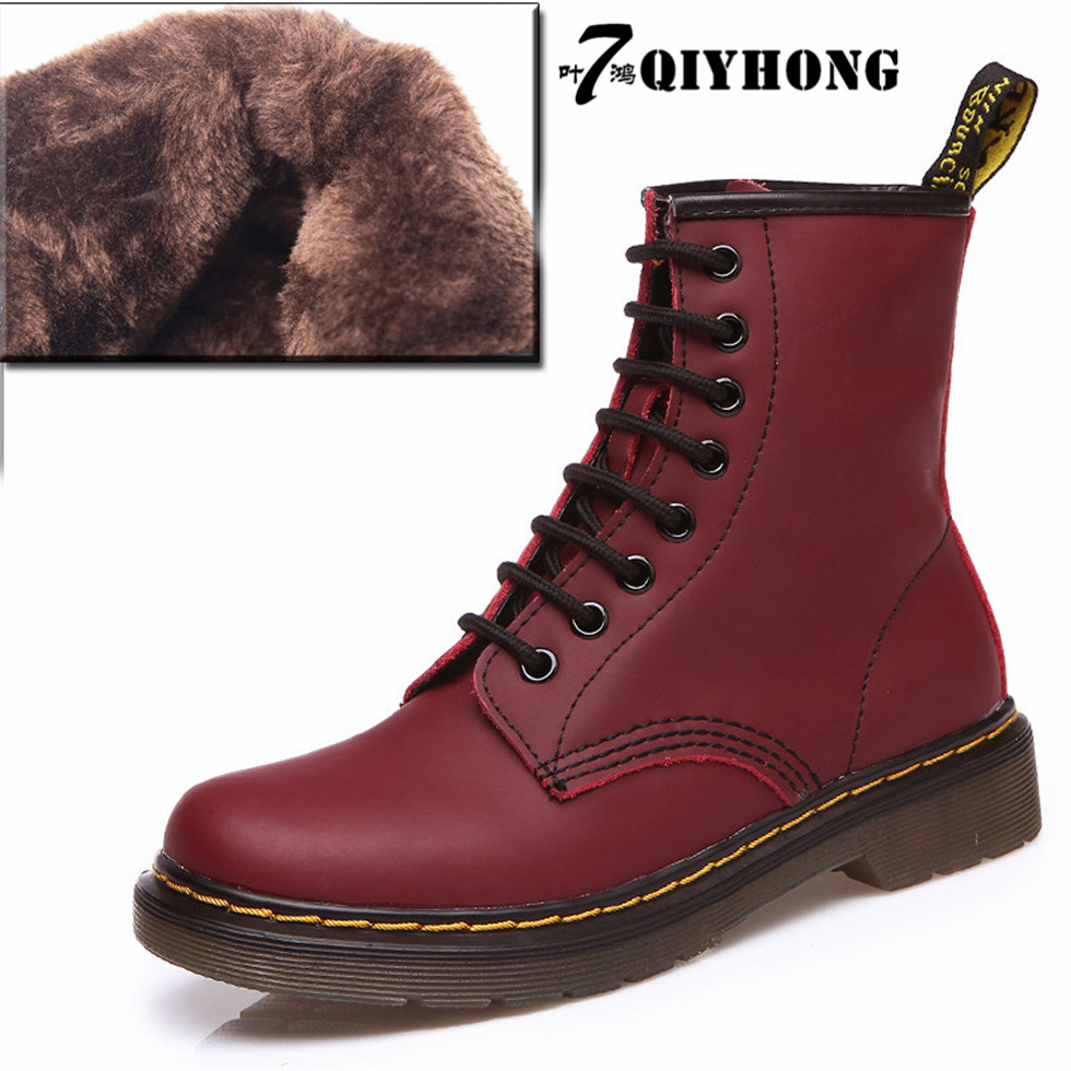 QIYHONG Autumn And Winter Selling New High-Quality Leather Boots Fashion Women'S Martin Boots Lovers Motorcycle Boots 35-45 new and original mc10ep139dtr2g tssop 20 4 4mm mc10ep139dt selling with high quality