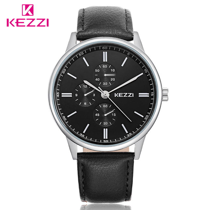KEZZI Brand Quartz Watch Couple Leather Strap Ultra-thin Gold&Silver Wristwatch lovers Fashion For Men Watches Women Gift Clocks women fashion watches rose gold rhinestone leather strap ladies watch analog quartz wristwatch clocks hour gift relogio feminino