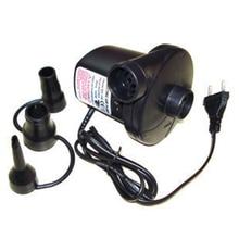 Электрический воздушный насос для пневматических лодок, кукол, 220 В переменного тока, матрас для надувных сумок с 3 насадками, штепсельная вилка европейского стандарта    M25