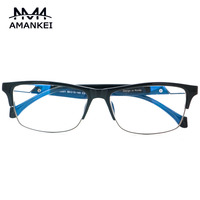 Acetate Spectacle Frames Men Women Fashion Classic Optical Glasses AMANKEI Vintage Rectangle Solid Myopic Glasses Frame