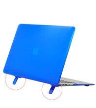 Base de dados de suporte titular Fosco Matte Caso Capa Dura para Macbook Pro 13.3 15.4 Pro 12 13 15 polegada Para Macbook Air 11 13 Laptop Shell