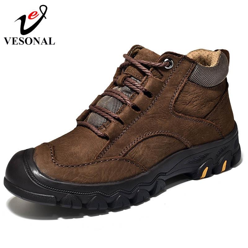 Aus Dem Ausland Importiert Vesonal Echtem Leder Männlichen Für Männer Schuhe Erwachsene Herbst Vintage Stiefel Komfortable Qualität Business Design Schuhe Luxus Attraktive Mode Home