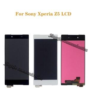Image 1 - Exibição Original Para Sony Xperia Z5 LCD + montagem da tela de toque para Sony Xperia Z5 E6653 E6603 E6633 LCD móvel peças de reparo do telefone