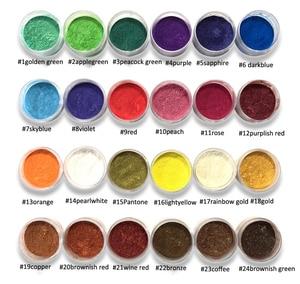 Image 1 - 10Ml 24สีMica Pigments ~ ธรรมชาติPearlescent Micaผง ~ Metallic Dyeสำหรับเล็บเครื่องสำอางค์ภาษาโปลิชคำสบู่