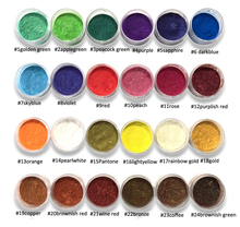 10ml frasco 24 cores mica pó pigmentos natural pó de mica perolescente natural dye tintura metálica para fazer o sabão polonês cosmético do prego