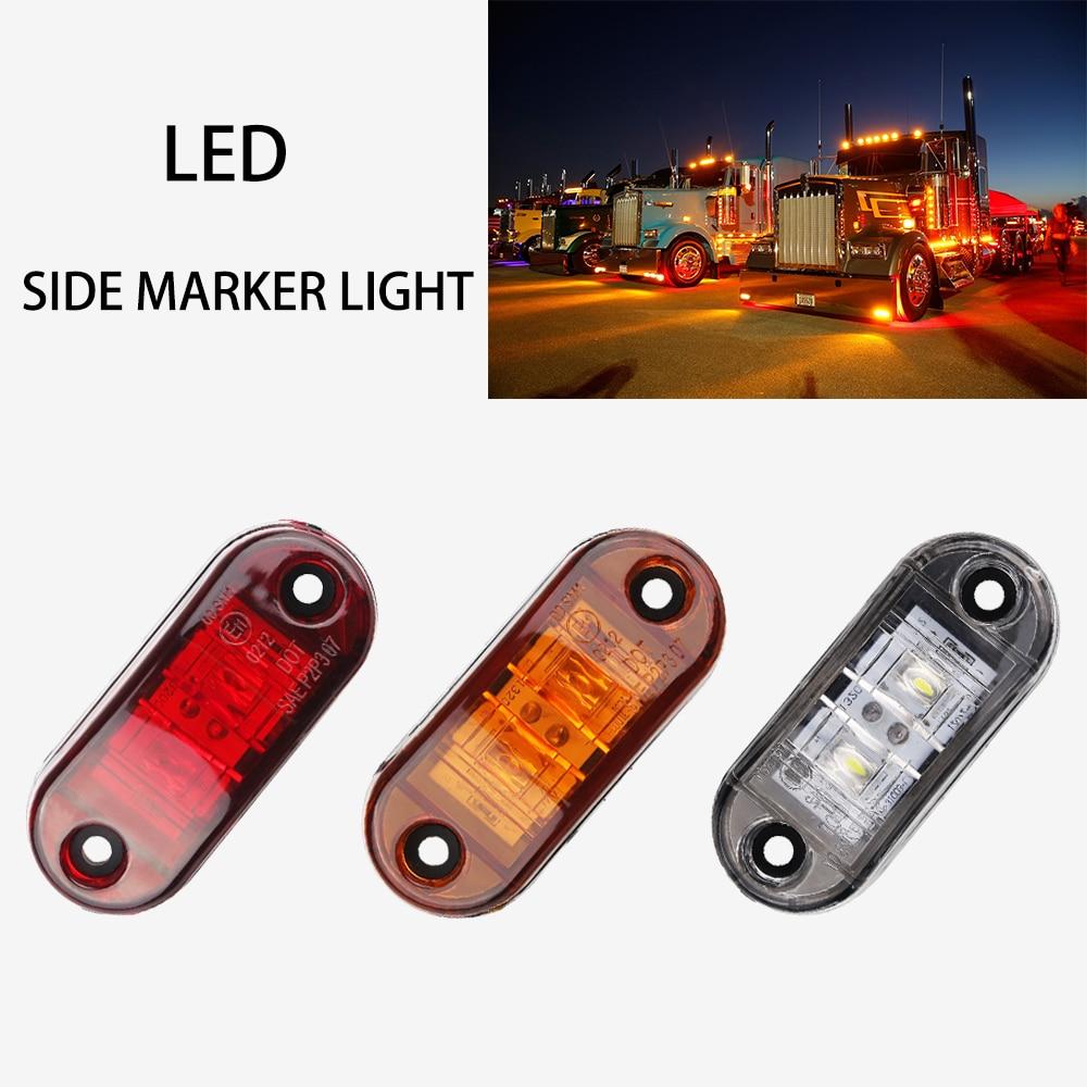 1se 12v/24v Amber Led Side Marker Light For Trucks Side Clearance Marker Light Clearance Lamp For Trailer Truck Pickup Red White