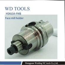HSK63-FMB16-50  precision shank, HSK shank, CNC plane, milling shank HSK face mill holder taper shank end mill holder bt50 sln32 250