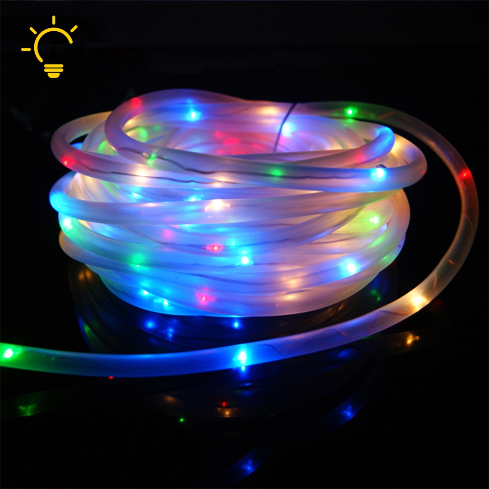 Best Quality Solar String Lights : TSLEEN Top Quality RGB 10M 100 LED Solar Rope Tube Led String Strip Fairy Light Outdoor Garden ...