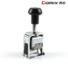 Comix B3906 Durable Stainless Automatic Numbering Machine, Size:60*39*132mm, Nw.:369mm, Material: Titanium Alloy, Color:silver