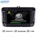 БЕСПЛАТНАЯ ДОСТАВКА для VW автомобильный dvd-плеер завод продажи Android Quad Core HD1024 * 600 Автомобиля DVD GPS навигации OEM fit радио rns510 аудио