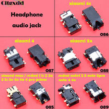 Cltgxdd untuk Xiaomi 4 4C 5X/A1 Redmi 1 1 S 2 2A 3 3 S 3X 4A 4PRO Prime MAX2 Note1 2 3 Note3pro Note4 4X Audio Headphone Jack Socket(China)