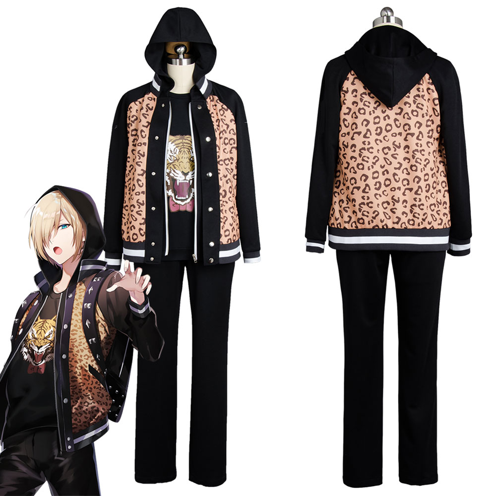 Yuri On Ice Yuuri Plisetsky Cosplay Costume Daily Suit Tiger Head Shirt Jacket Whole Set Custom Made