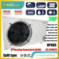 2 P сплит типа Здравствуйте COP тепловой насос водонагреватель работать вместе с пластинчатым теплообменником для тепла 100sqm пол непосредстве