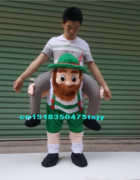 Mascotte Costume unisexe Cosplay nouveauté Ride sur Costume drôle fantaisie robe Halloween ride On me ride Costumes porter un pantalon