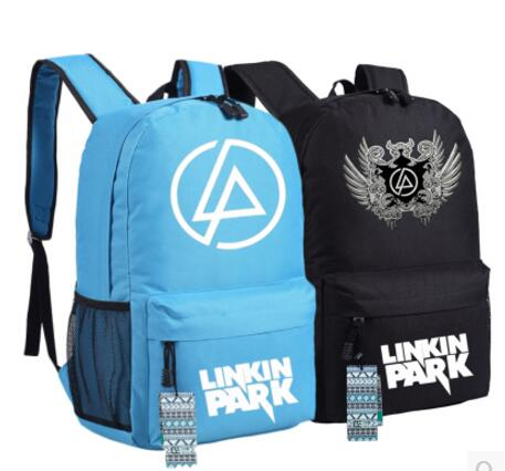 Linkin Park Canvas Printing Backpack Bag Unisex Printing Fashion School Bags Students Teenagers Cosplay Gifts