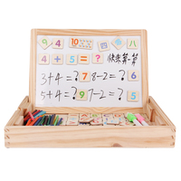 baby game Toys wood Counting Sticks Education Toy Montessori Mathematics Learning box magnetic material Interesting presents