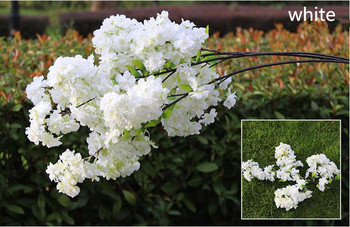 100 CM Long Artificial Bouquet Simulation Cherry Blossom Flower White and Pink Available For Home Wedding Party Decoration Suppl