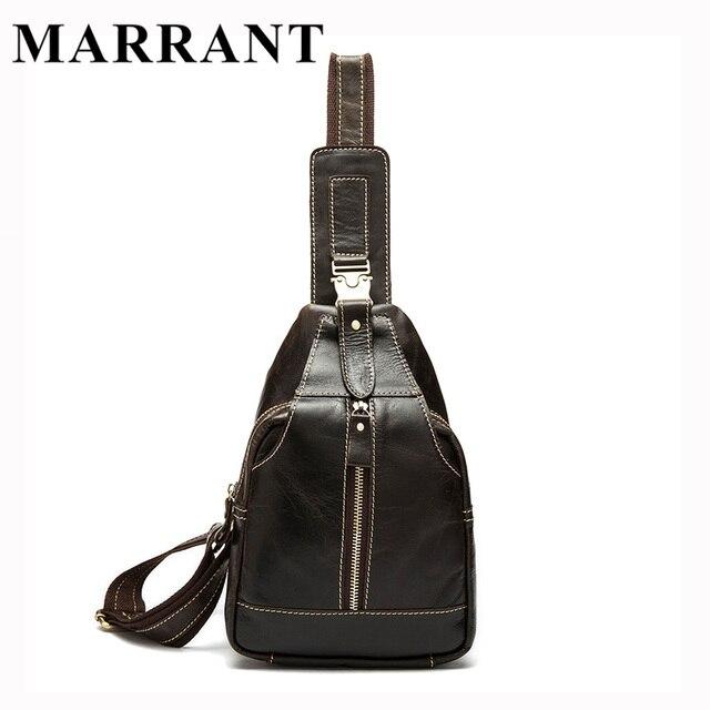 MARRANT Genuine Leather Men Bag Fashion Men s Chest Pack Man Small Travel Bag  Male Messenger Bag 3f78942b86d31