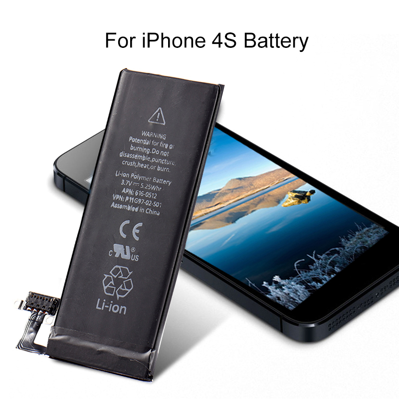 Mobile Phone Built-in Lithium Battery For iPhone 4S replacement battery High quality 1430mAh Phone battery For iPhone 4S