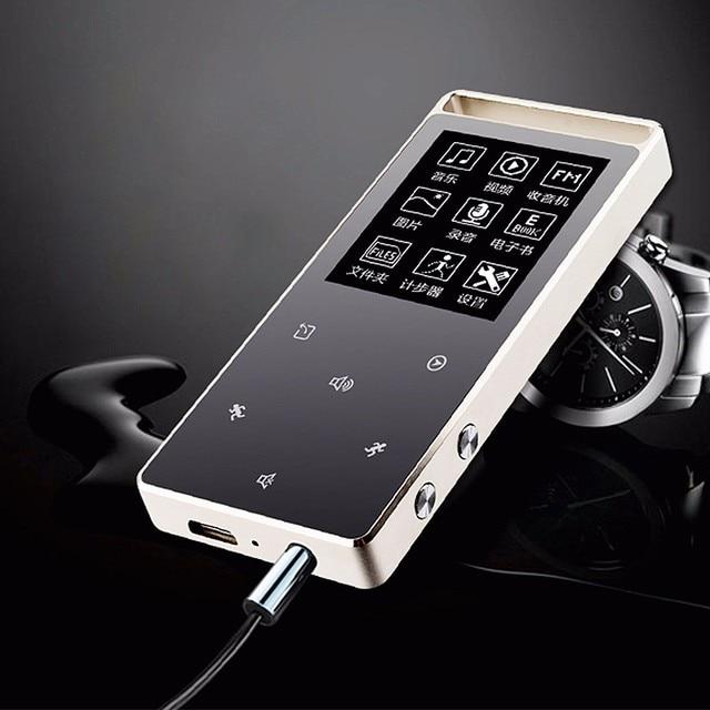 2017 All Aluminum Alloy New Original RUIZU D01 MP4 Player 8G Screen Touch Key Speaker Video Pedo Meter Recorder E-Book Video