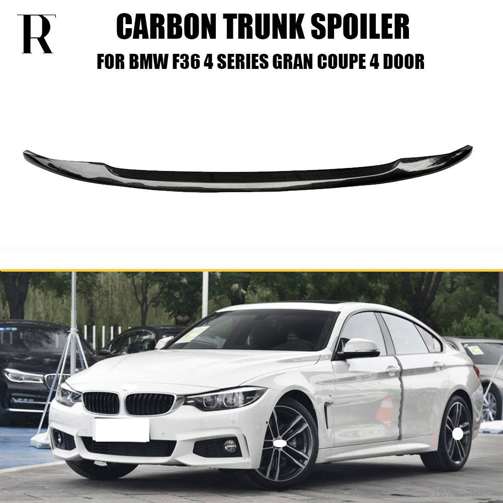 F36 Gran Coupe Carbon Fiber Rear Trunk Spoiler for BMW F36 420i 428i 435i 418d 420d 430d 435d 4 DOOR 2014 2015 2016 P Style for bmw 4 series f32 coupe 420i 428i 430i 435i carbon fiber rear spoiler performance style 2014 2015 2016 2017