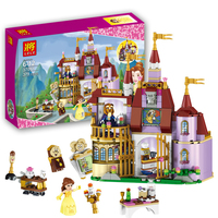 37001 Beauty And The Beast Princess Belle S Enchanted Castle Building Blocks Girl Kids Model Toys