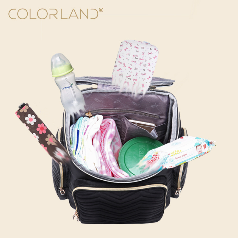 55e179e34b COLORLAND Baby Diaper Bag Backpack Mom Stroller Nappy Changing Mommy  Maternity Organizer Wet Bags Care Thermal Insulation - aliexpress.com -  imall.com