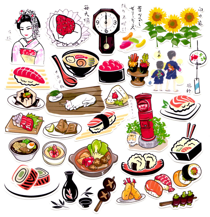 31pcs Self Made Japanese Food Sushi Scrapbooking Stickers