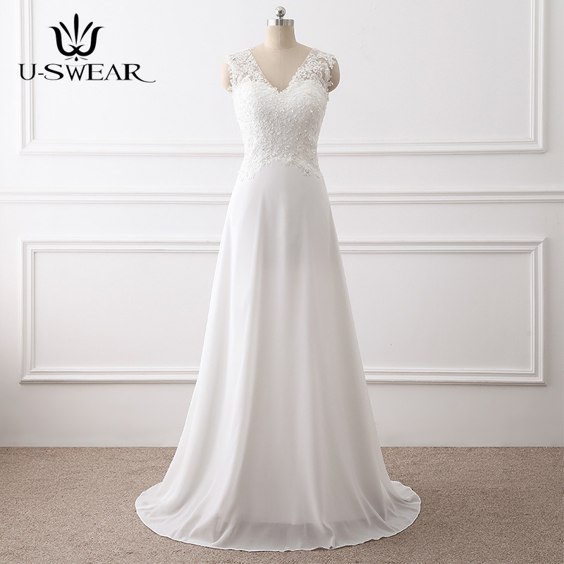 U-SWEAR Sexy V-Neck Sleeveless   Evening     Dresses   Chiffon Slim Party Prom Formal Gowns Floor-Length Vestidos Robe Ceremonie Femme