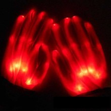 Led-Lighting Finger-Glow-Glove Halloween Christmas Party Music Colorful Creative Cosplay