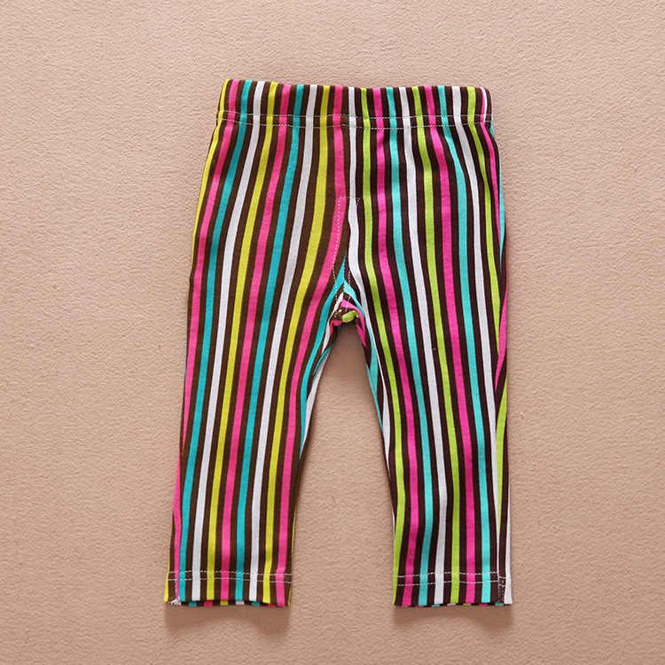 赤ちゃんガールズレギンス春夏の子供の綿レギンス鉛筆のゼブラ快適な伸縮性パンツ
