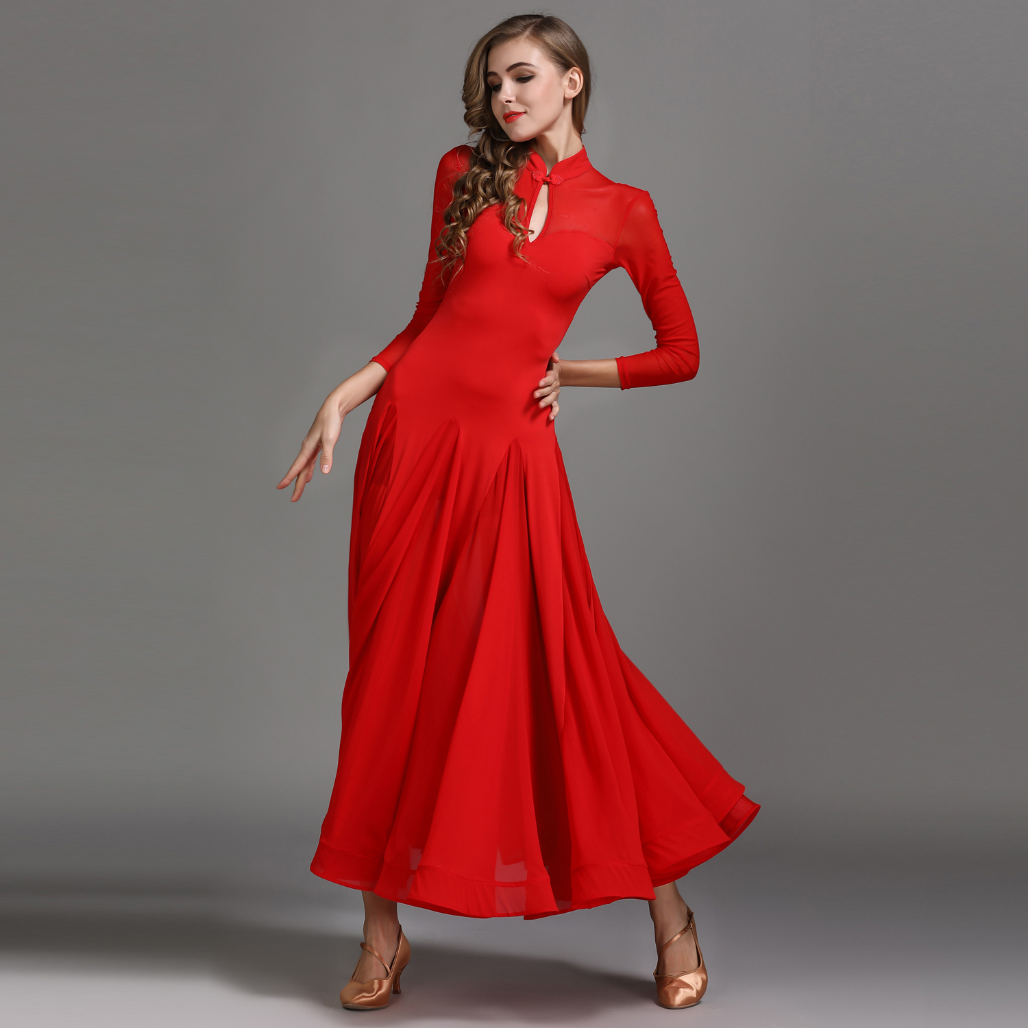 Modern Dance Costume Women Lady Waltzing Tango Dance Dress Ballroom Costume Chinese Frock Evening Party Dress набор sony singstar dance party pack